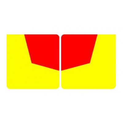 REFLECTIVE SIGNS - RED/YELLOW 400 x 400 Class II