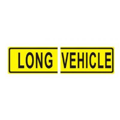 REFLECTIVE SIGNS - LONG VEHICLE (SPLIT) 915 x 210 Class II