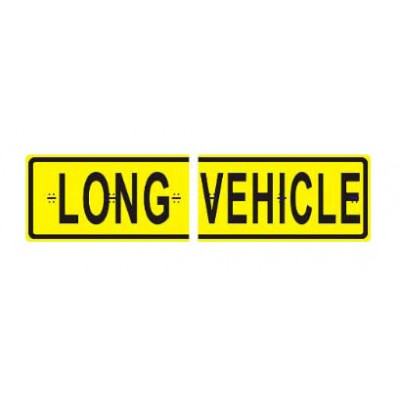 REFLECTIVE SIGNS - LONG VEHICLE (SPLIT/HINGED) 1200 x 300 Class II