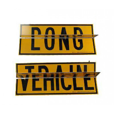 REFLECTIVE SIGNS - ROAD TRAIN/ LONG VEHICLE 600 x 255 Class II