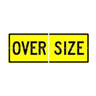 REFLECTIVE SIGNS - OVERSIZE (SPLIT) 600 x 450 Class II