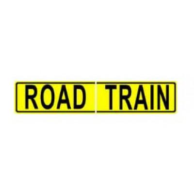 REFLECTIVE SIGNS - ROAD TRAIN (SPLIT) 600 x 250 Class II