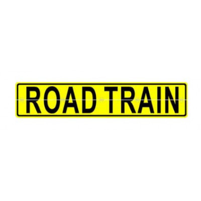 REFLECTIVE SIGNS - ROAD TRAIN (HINGED) 600 x 1200 Class II