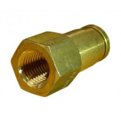 PUSH-IN STRAIGHT FEMALE CONNECTOR - IMPERIAL TUBE TO IMPERIAL FEMALE THREAD