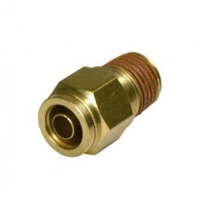 Push-In Straight Male Connector - Imperial Tube To Imperial Male Thread