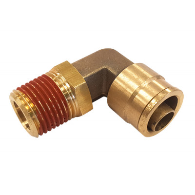 PUSH-IN MALE 90˚ ELBOW – SWIVEL TYPE - IMPERIAL TUBE TO IMPERIAL MALE THREAD
