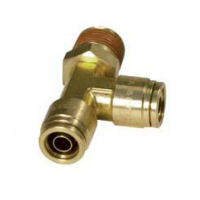 PUSH-IN MALE RUN TEE – SWIVEL TYPE - IMPERIAL TUBE TO IMPERIAL MALE THREAD
