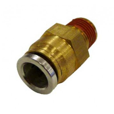 PUSH-IN STRAIGHT MALE CONNECTOR - METRIC TUBE TO IMPERIAL MALE THREAD