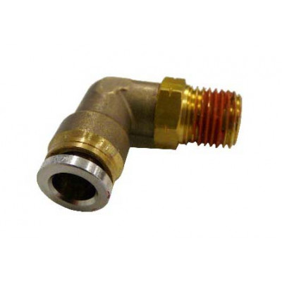 PUSH-IN MALE 90˚ ELBOW – SWIVEL TYPE - METRIC TUBE TO IMPERIAL MALE THREAD