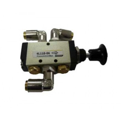 "PNEUMATIC VALVE - 5 PORT PUSH/PULL SWITCH 1/4"" PORT"