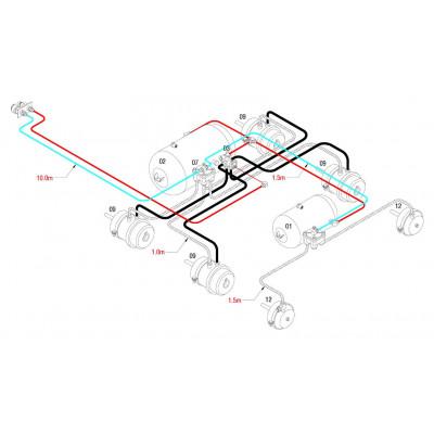 BRAKETEC TRAILER BRAKE KIT - TRI AXLE SEMI (4 x SPRING BRAKE & 2 x BRAKE CHAMBER)