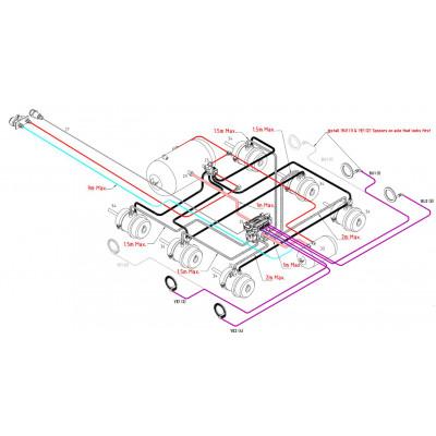 BRAKETEC TRAILER BRAKE KIT - TRI AXLE SEMI WITH ABS (6 X SPRING BRAKES)