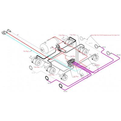 BRAKETEC TRAILER BRAKE KIT - TRI AXLE SEMI WITH ABS (3 & 5 TON)