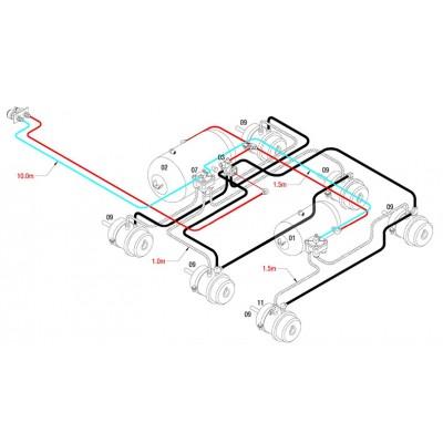 BRAKETEC TRAILER BRAKE KIT - TRI AXLE SEMI (6 x SPRING BRAKE)