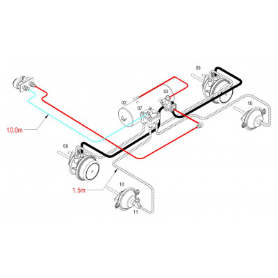 BRAKETEC TRAILER BRAKE KIT - 3 & 5 TON TANDEM AXLE SEMI
