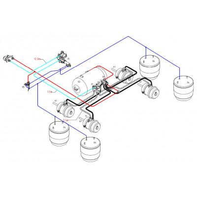 BRAKETEC TRAILER BRAKE KIT - TANDEM WITH LOAD SENSING VALVE (AIR SUSP)