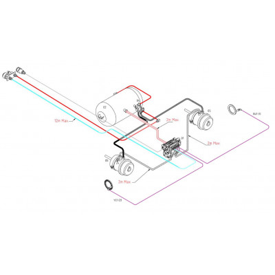 BRAKETEC TRAILER BRAKE KIT - SINGLE AXLE WITH ABS