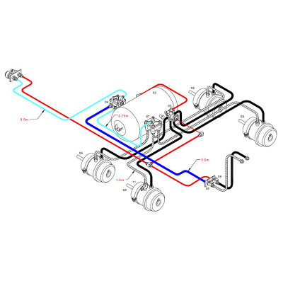 trailer body parts Semi Truck Trailer Wiring Diagram braketec trailer brake kit tandem axle b d r t semi