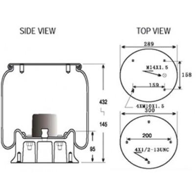 AIR SPRING - HENDRICKSON S36489 (1V9215)