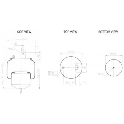 AIR SPRING - VOLVO 1076416 (1K6416) (1V6030)
