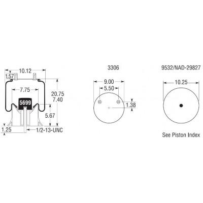 AIR SPRING - HENDRICKSON C23721 (1V9644)