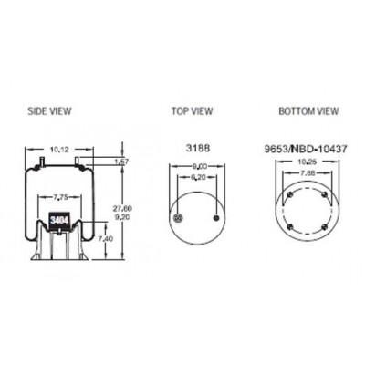 AIR SPRING - HENDRICKSON S14249 (1V9367)