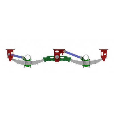 TANDEM AXLE SPRING SUSPENSION UNDERSLUNG 20-TON YORK TYPE 10'1 Spread