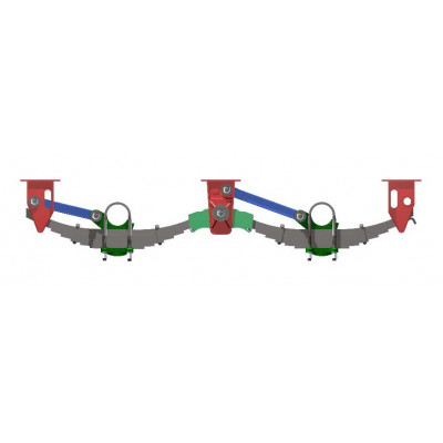 TANDEM AXLE SPRING SUSPENSION UNDERSLUNG 20-TON YORK TYPE