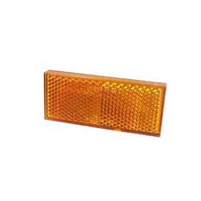 Adhesive Rectangular Reflector - Amber