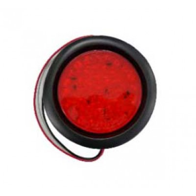"ROUND RUBBER GROMMET LIGHT 4""  - RED"